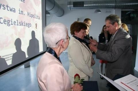 Medal H.Cegielskiego dla Jadwigi Miluśkiej-Stasiak