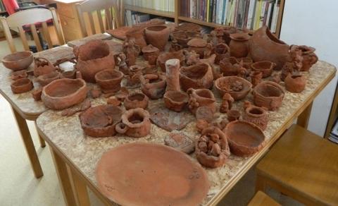 Ceramika z warsztatów garncarskich w Cegielni