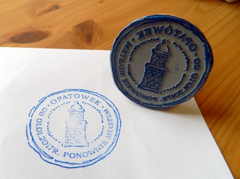pieczęć turystyczna z Opatówka